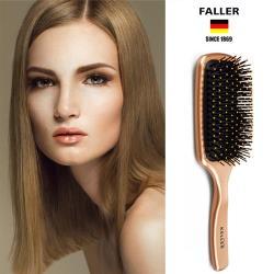 德國FALLER芙樂 金屬光抗糾結大型氣墊梳 柔珠軟纖維各種髮質都能輕鬆梳理