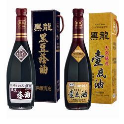 黑龍 超值特級黑豆蔭油(清油)4瓶+壺底油2瓶(各600ml)