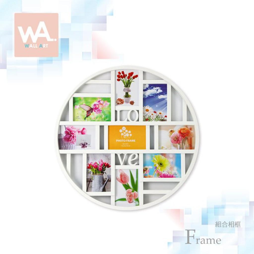 Wall Art 現貨 白色圓形連體造型組合相框 鏤空雕花 喜宴婚禮佈置 照片 相框牆 家居家飾擺件 拍照小物道具