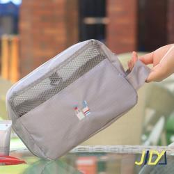JIDA 時尚輕旅行純色系可吊掛漱洗收納包(隨機出貨)