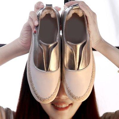 Fashion 正韓製 明星同款 新款漁夫鞋女夏平跟休閒鞋單鞋一腳蹬懶人鞋平底女鞋35-40碼