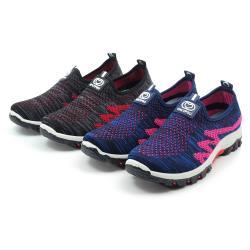 【cher美鞋】MIT輕量便利彈性舒適休閒健走懶人美鞋36-41碼-黑色/藍色 088052160-03