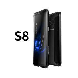 SAMSUNG S8 鋁鎂合金 防摔金屬邊框 手機殼 - 晶墨黑