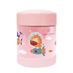 【MARCUS&MARCUS】動物樂園不鏽鋼保溫保冷罐-粉紅-行動