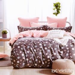 BEDDING-專櫃純棉5尺雙人薄式床包三件組-碎花拾影-灰