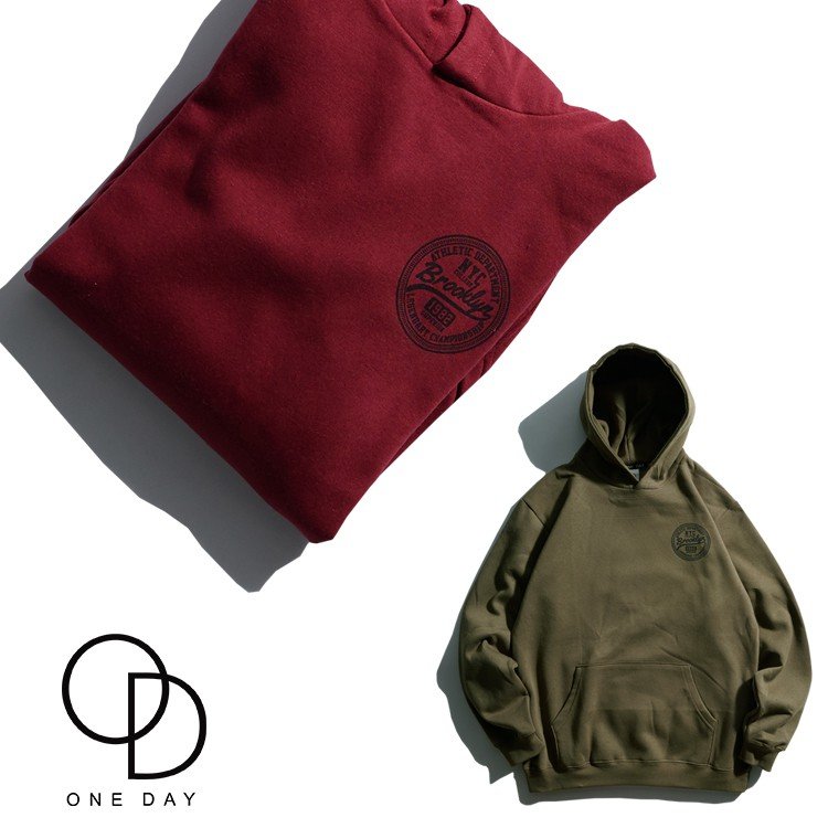 ONE DAY 台灣製 265C103 印製帽T 大學T恤 男生帽T 刷毛T 大學T 長袖T恤