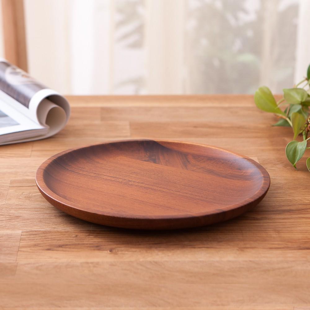 木質宣言洋槐餐盤21cm-生活工場