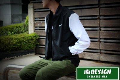 南◇2016 5月S賣場 NIKE PLAYERS JACKET 雙面穿 立領 風衣 棒球外套727742-010 黑白