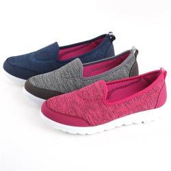 88%懶人休閒鞋混織風簡約百搭3cm跟高