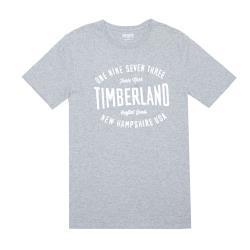 Timberland男款灰色品牌字母圖騰圓領T-ShirtA1W6W052