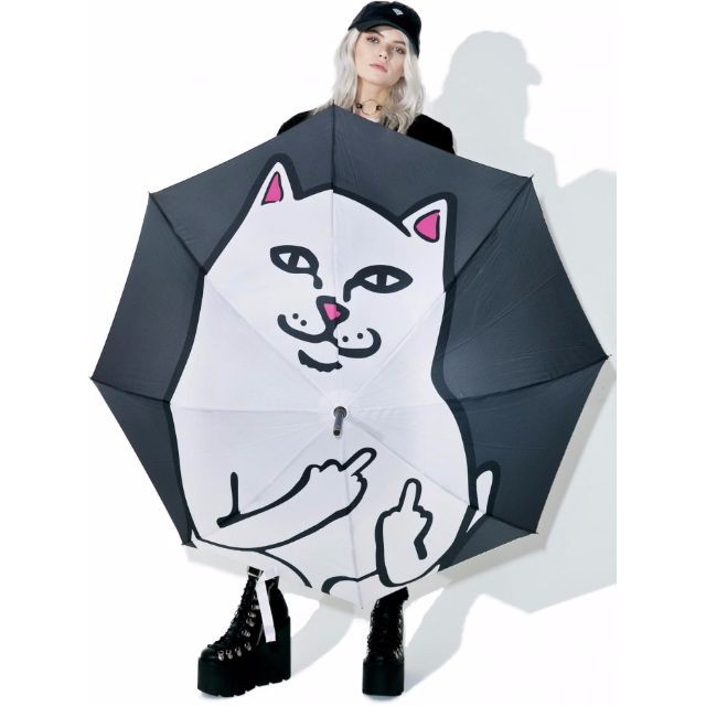 RIPNDIP LORD NERMAL UMBRELLA 雨傘 陽傘 中指貓 台灣總代理-ALL