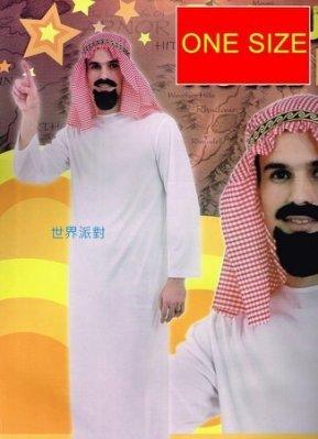 乂世界派對乂 萬聖節服裝,萬聖節裝扮,聖誕舞會,大人變裝服-阿拉伯酋長套裝組