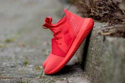 ADIDAS ORIGINALS TUBULAR DEFIANT S75245 全紅武士忍者鞋慢跑鞋現貨代購 平民版Y3