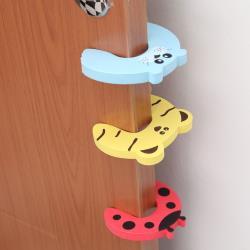 兒童卡通門夾 安全門卡 動物造型防止寶寶門夾手【隨機10入】
