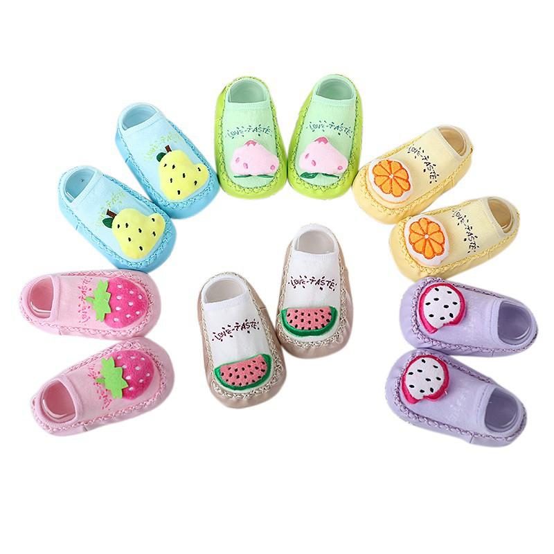 嬰兒男孩女孩襪子鞋子防滑拖鞋襪子 寶寶襪防滑學步襪 水果鞋【IU貝嬰屋】