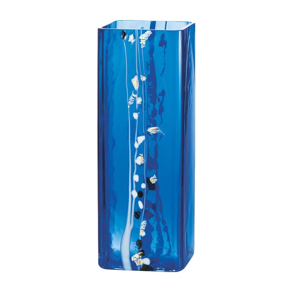 【日本ADERIA津輕】 手作冰晶藍花器/花瓶《WUZ屋子》