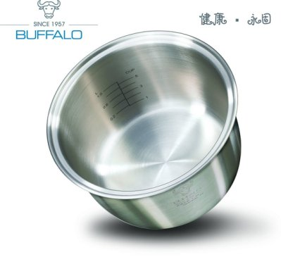 【牛頭牌】唯一無塑化塗層&鋁毒疑慮《安康內鍋》6人份電子鍋內鍋。象印電子鍋、象印內鍋、虎牌內鍋、不鏽鋼內鍋、複合金鍋具