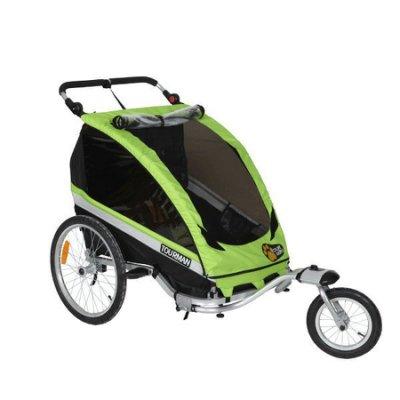美國最新款 自行車/腳踏車 拖車  可載寵物或是小孩  可向下折疊 收納行李箱攜帶方便 雙人座