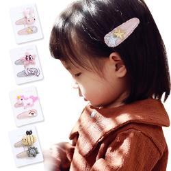 2入組兒童髮夾BB夾 花朵寶寶髮夾 兒童髮飾-3組入