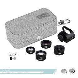 MOMAX摩米士 X-Lens PRO 4合1專業鏡頭組合 (CAM7) 20X微距+120°廣角+180°魚眼+2X長距