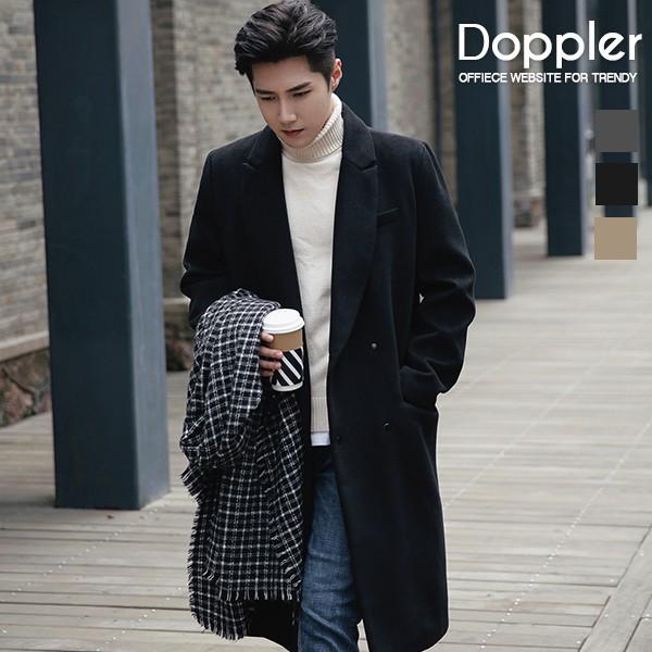 長版大衣 韓系暗扣毛呢保暖外套 風衣 現貨+預購 【TJC1803】