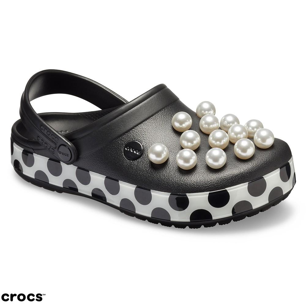 Crocs卡駱馳(中性鞋)永恆經典卡駱班珍珠克駱格涼鞋-205438-0EC