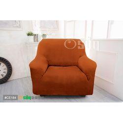 Osun-一體成型防蹣彈性沙發套 厚棉絨溫暖柔順_1人座 香檳橘 CE-184