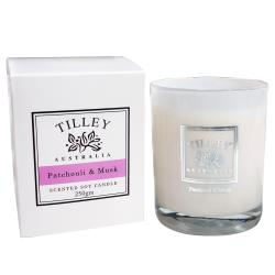 Tilley百年特莉 廣霍香麝香香氛大豆蠟燭 240g