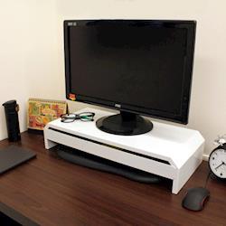 【頂堅】寬58.6公分(鐵板製)桌上型-抽屜-螢幕架/置物架(二色可選)