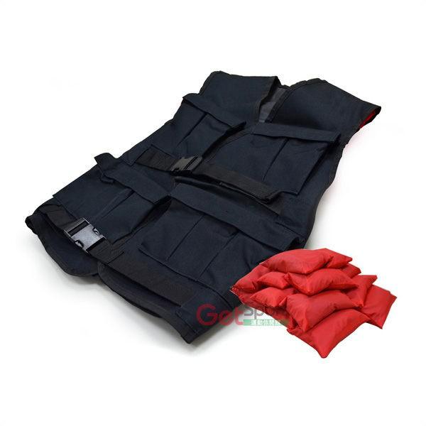 負重背心(40磅可調)(18公斤/18KG/阻力鍛鍊/沙包/加重衣/重量訓練/鐵砂/體能訓練衣)