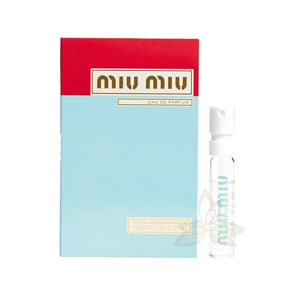 【現貨秒出】MIU MIU 繆斯女神 女性淡香精 針管小香 1.2ml(百奧田 天然保養)
