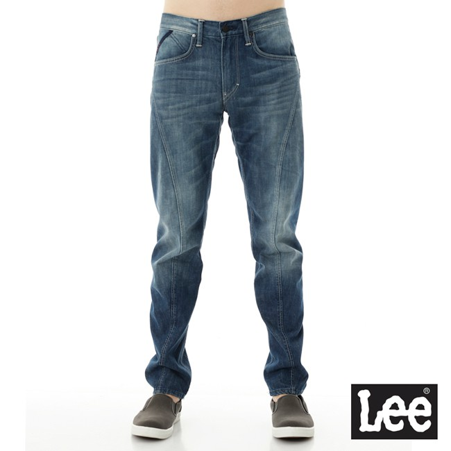 Lee 755 低腰標準小直筒牛仔褲 男 中藍 重磅 3D Urban Riders