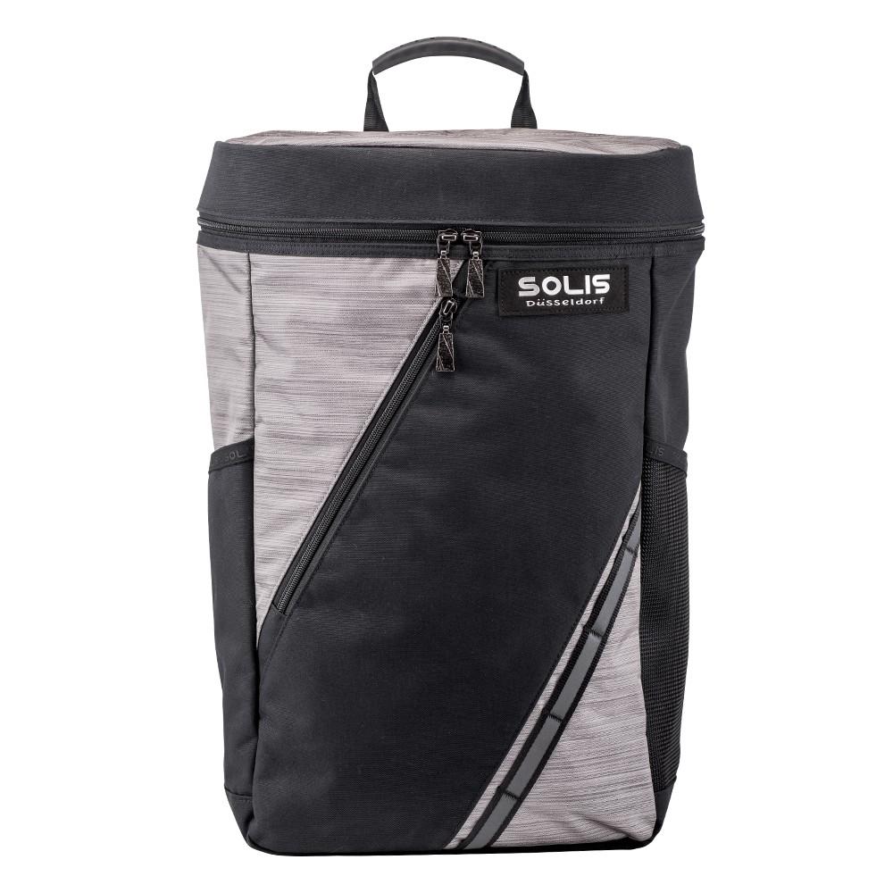 SOLIS 星燦銀系列桶型電腦後背包 銀幻黑