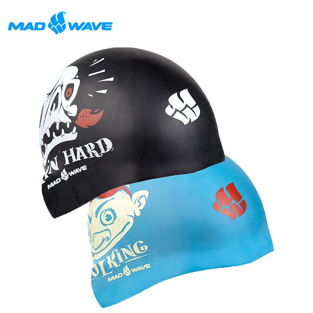 俄羅斯MADWAVE成人矽膠泳帽 POOL KING-可雙面使用-買就送Barracuda矽膠耳塞