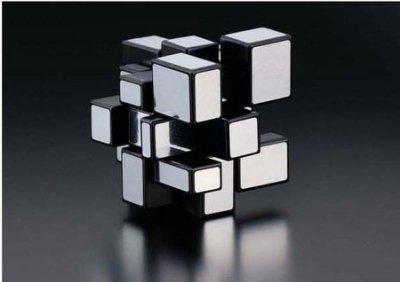 = 天 . 氣 . 晴 = [897]HB-CUBE 銀色/金色鏡面魔術方塊 動腦新美學