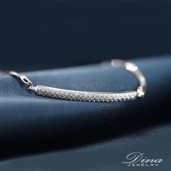 DINA JEWELRY蒂娜珠寶  輕奢華小滿鑽 CZ鑽純銀手鍊 (SCS32759)
