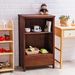 CiS自然行實木家具-日系雜貨原木書櫃(焦糖色)