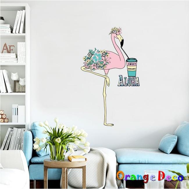 【橘果設計】火烈鳥 壁貼 牆貼 壁紙 DIY組合裝飾佈置