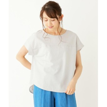 Tシャツ - SHOO・LA・RUE シルケットサッカ-プルオーバー