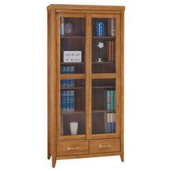 顛覆設計 絲莉愛3尺柚木實木推門下抽書櫃