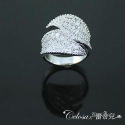 【Celosa珠寶】雙耀晶鑽戒