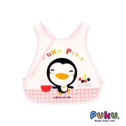 PUKU藍色企鵝 背心圍兜(粉色)