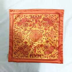 【協貿】奢華復古棉絨布料復古小花沙發方形抱枕含芯