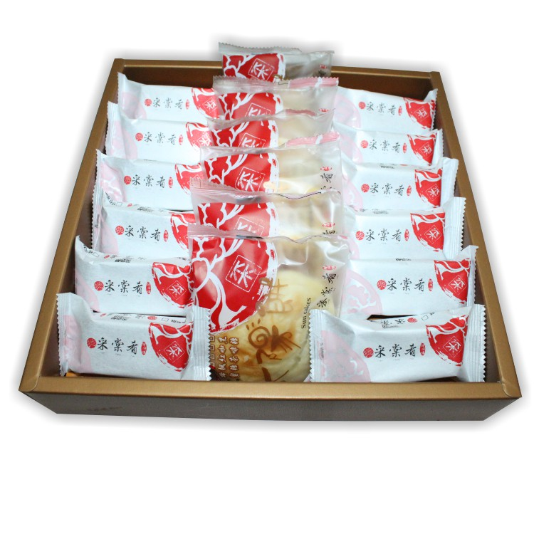 采棠肴鮮餅鋪-綜合禮盒(A) 鳳梨酥12入+太陽餅6入/新年禮盒/伴手禮/中秋禮盒/精美禮盒
