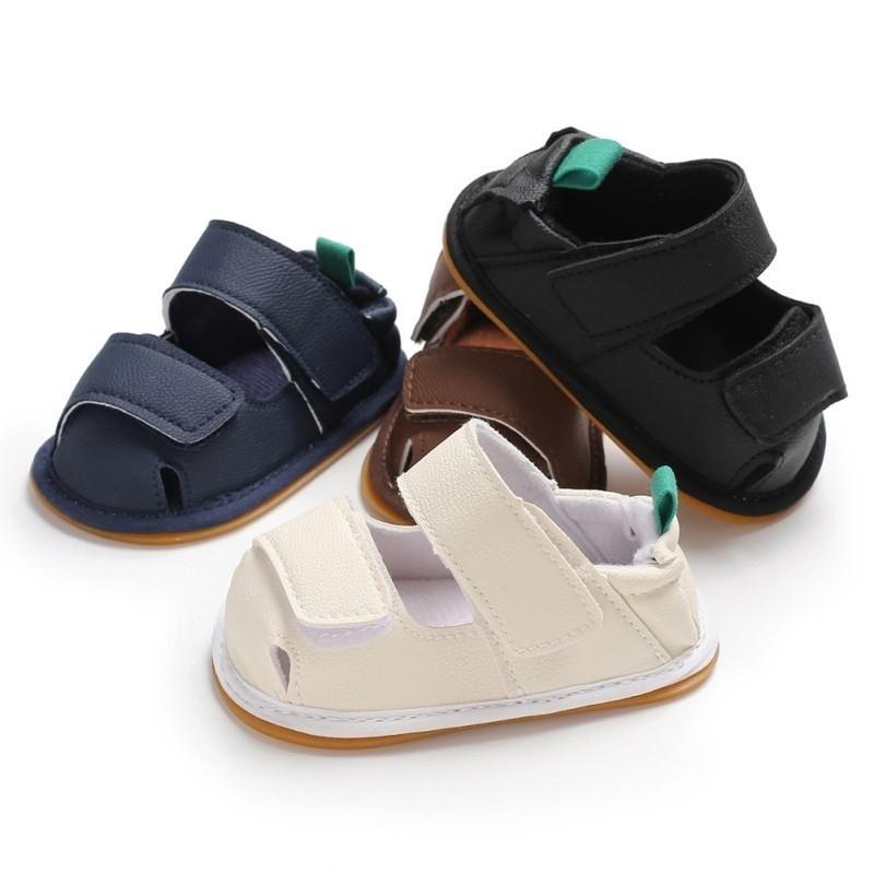 夏季男寶寶休閒膠底學步涼鞋【IU貝嬰屋】