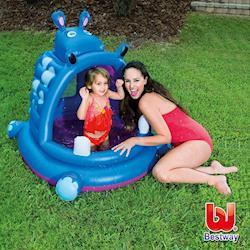 哈街 Bestway 兒童充氣河馬造型戲水池