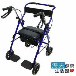 【海夫健康生活館】鋁合金 輪椅式 助行車 散步車 購物車YK7080