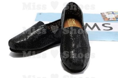 Miss ♥ Shoes - 正品TOMS帆布鞋Glitters亮片款【黑】現貨在台 另有別色OB 86 東京