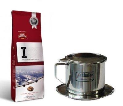 【越南咖啡組合包】中原咖啡-文字I(2包)+tithafac 8號咖啡滴壺(1個)