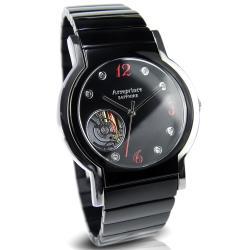 Arseprince 城市旅人鏤空機芯中性錶-高雅咖X紅
